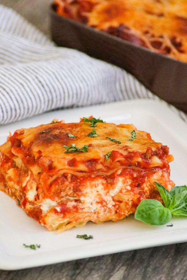 A slice of Lasagna.
