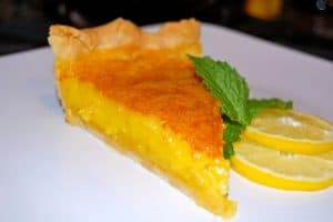 A baked Lemon Chess Pie