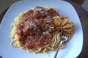Day 128 – Meatballs and Spaghetti