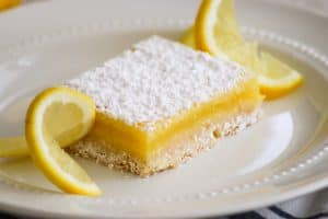 Easy Lemon Bar slice.