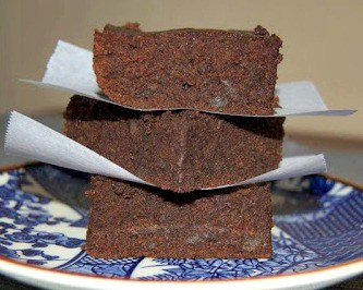 Delicious mint Chocolate Brownies with a secret ingredient!