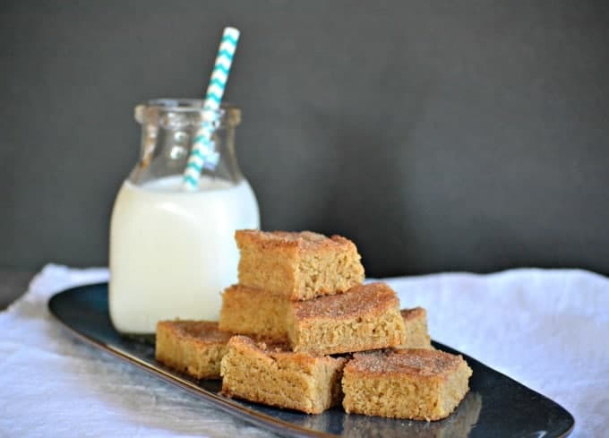 The great taste of a cinnamon-sugary Snickerdoodle in a chewy bar form. These will make a great ending to your next get together.