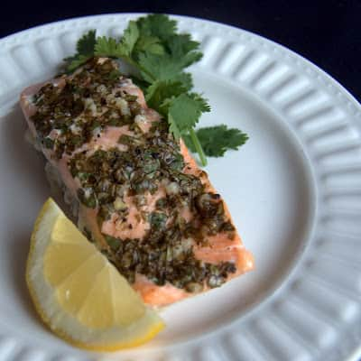A delicious fish dish, this Basil Baked Salmon is prepped and on your table in less than a half an hour. It makes a delicious and easy weeknight meal!