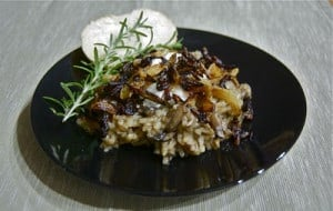 Day 304 – Baked Mushroom Risotto with Caramelized Onions