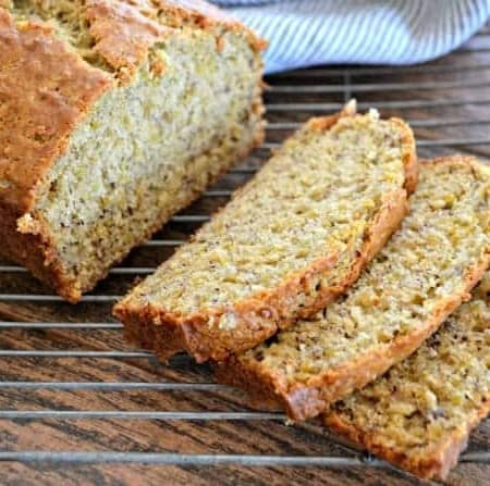 Quinoa Banana bread - it's extra special and healthier with the addition of quinoa. Start your morning with some comfort food with an extra umph!