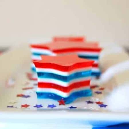A red, white and blue Jell-o treat that's sure to be the talk of your holiday!