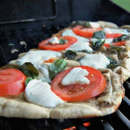 Grilled Margherita Pizza - nothing beats a pizza made on the grill!