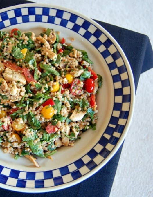 Couscous With Chicken Sausage And Mixed Veggies Recipe — Dishmaps