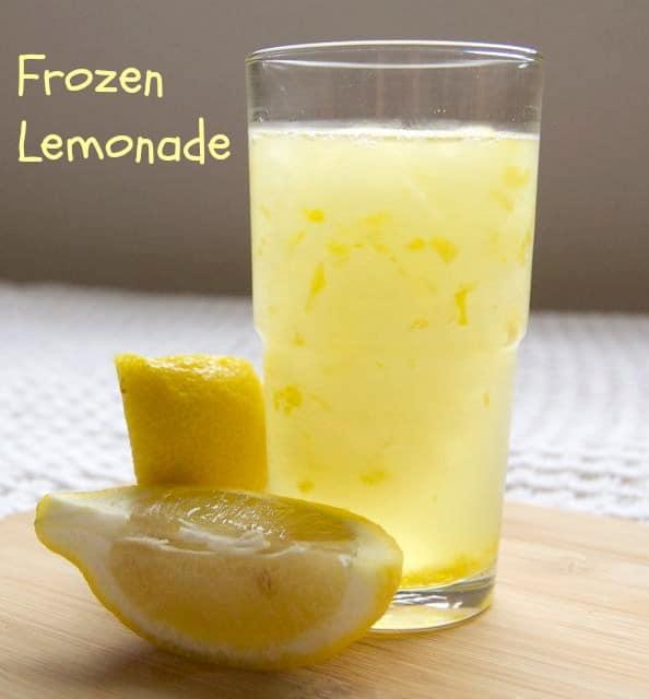 Frozen Lemonade - that summertime staple, lemonade, frozen to make for an extra-special drink!