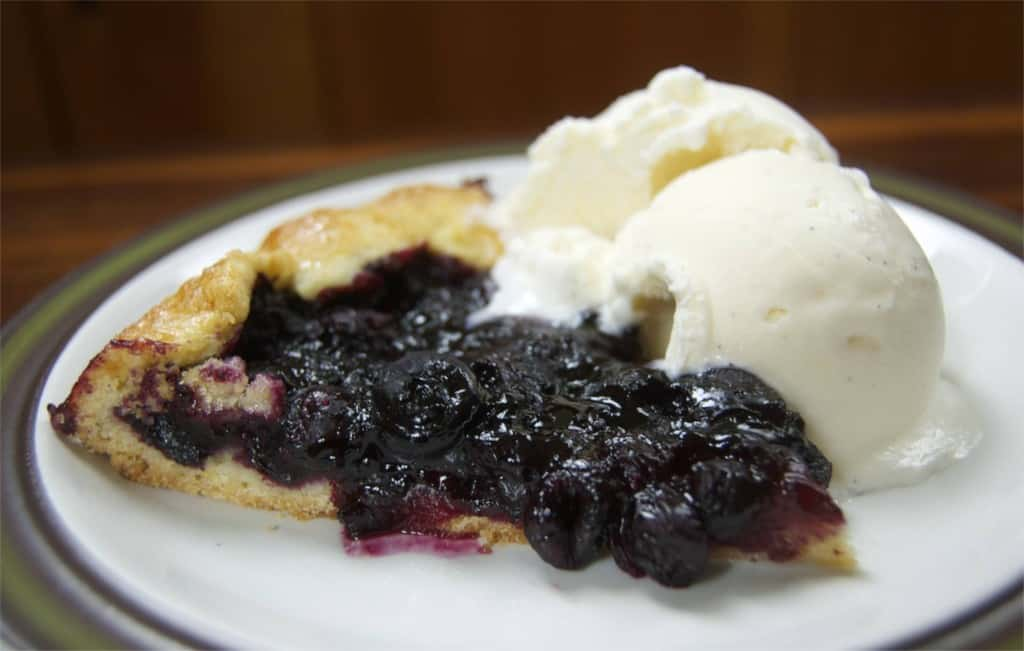 ... blueberries and crystallized ginger. Great with a side of ice cream