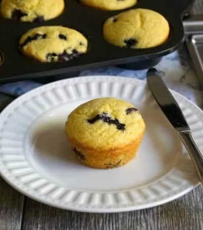 Blueberry Cornmeal Muffins are the corn muffins you love with the great addition of plump delicious blueberries. Add something new to your breakfast table!