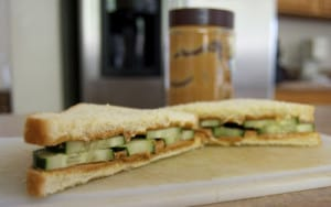 Peanut Butter & Cucumber Sandwich from Horse Camp