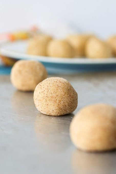 balls of chai cookie dough