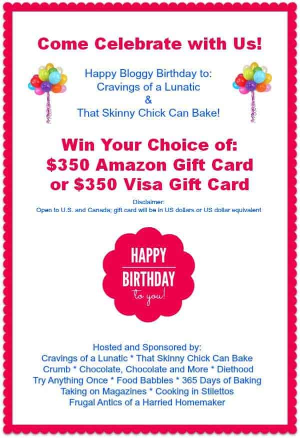 Enter to Win Either a $350 Amazon or Visa Gift Card!