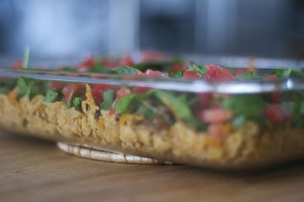 An easy weeknight dinner and a family favorite all in one dish - Taco Casserole!