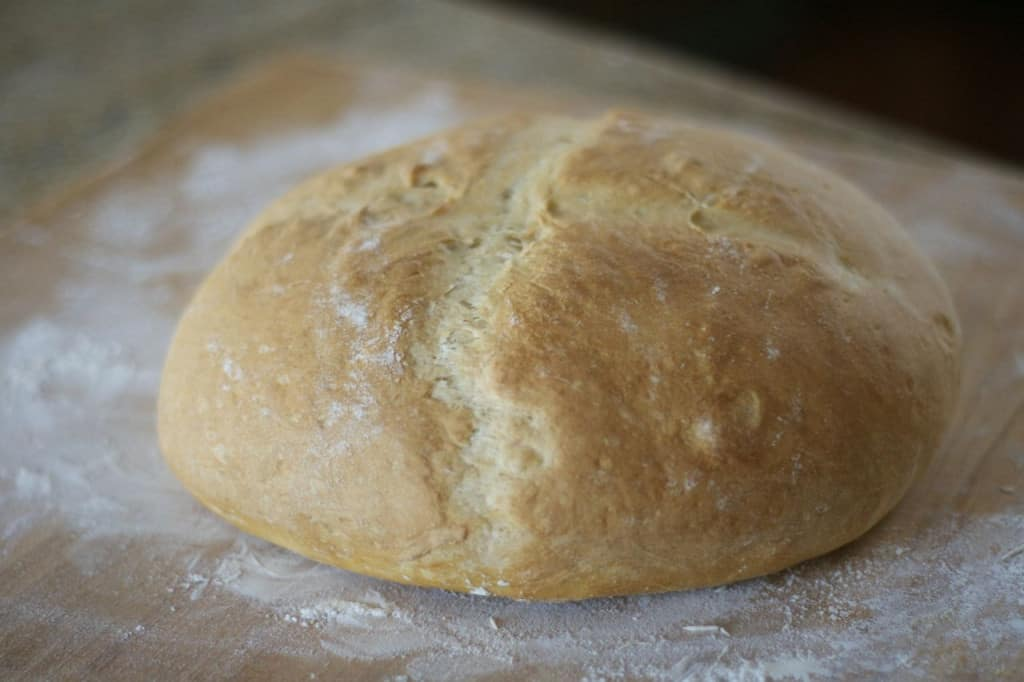 Grandma's Italian Bread - an easy-to-make loaf of bread with a soft and tender outside and the perfect crunchy, slightly chewy crust.