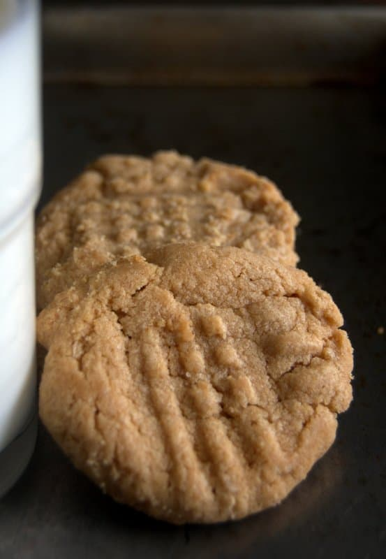 13 Minute, 3 Ingredient Peanut Butter Cookies - 365 Days of Baking