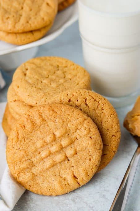 3 Ingredient Peanut Butter Cookies made in just 13 minutes!