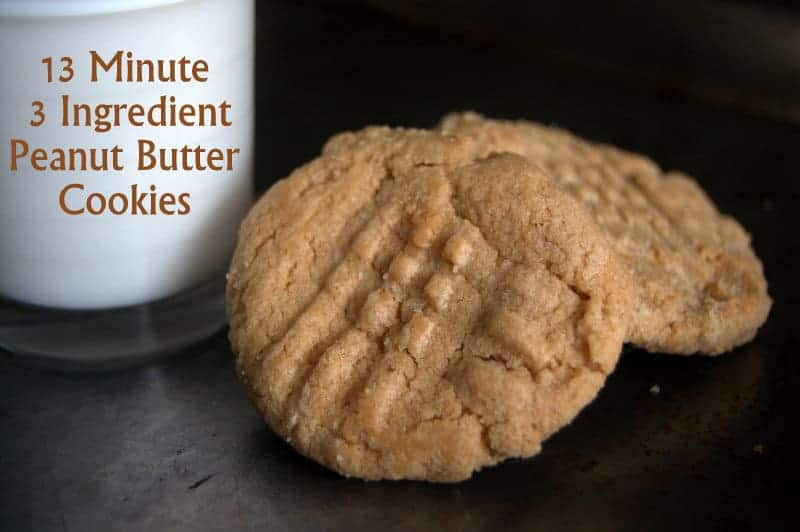 13 Minute 3 Ingredient Peanut Butter Cookies 365 Days Of Baking More