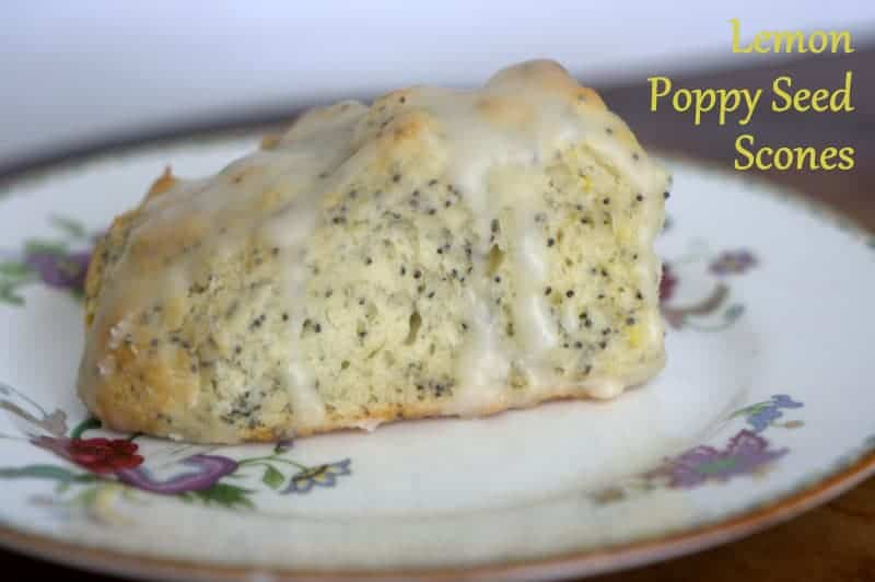Lemon Poppy Seed Scones - filled with poppy seeds and lemon rind then drizzled with a delicious lemon glaze.