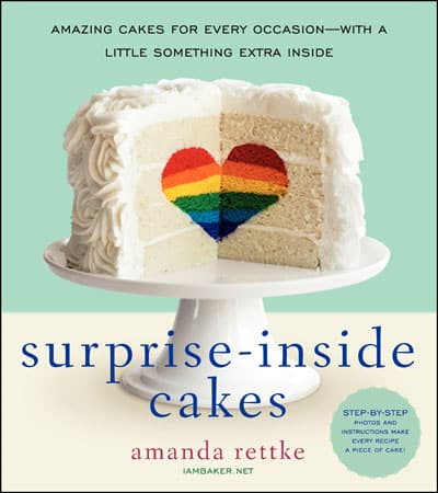 Surprise-Inside Cakes cookbook by Amanda Rettke from I am Baker