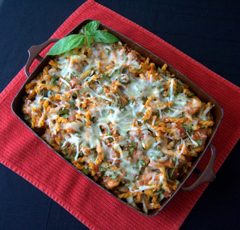 Chicken Parmesan Spinach Pasta Bake A Delicious New Twist On An Old Favorite