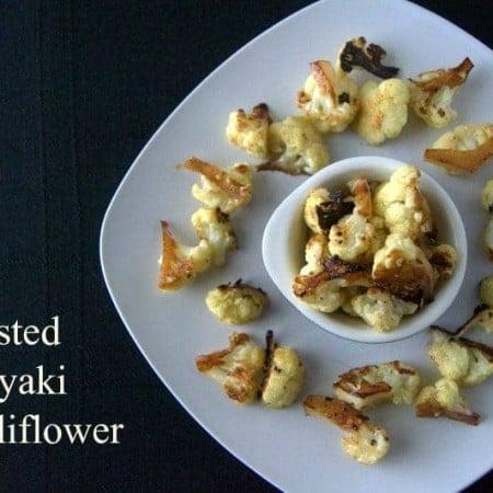 Roasted Teriyaki Cauliflower - cauliflower florets tossed in a Teriyaki marinade and roasted to perfection!