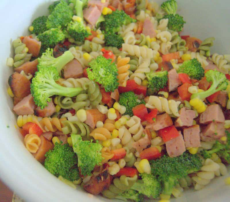Sausage Veggie Pasta Salad - a hearty side or complete meal with a great combination of flavors!