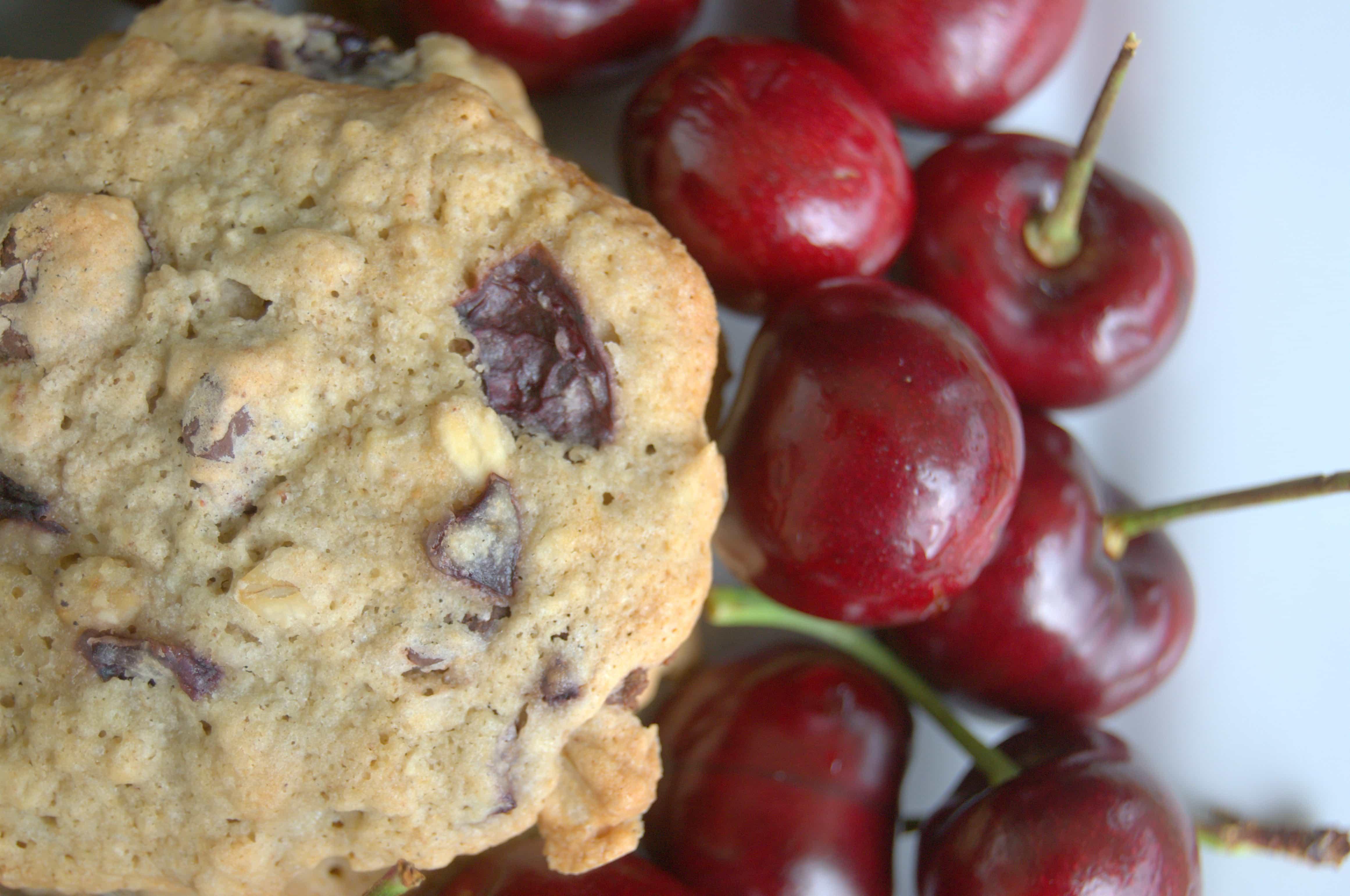Dark Chocolate Cherry Oatmeal Cookies - 365 Days of Baking