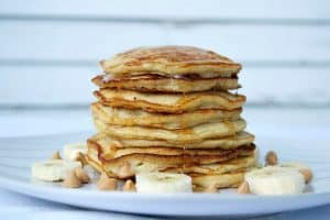 Banana Peanut Butter Chip Pancakes