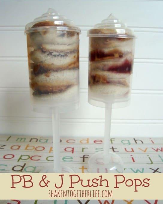 PB & J Push Pops