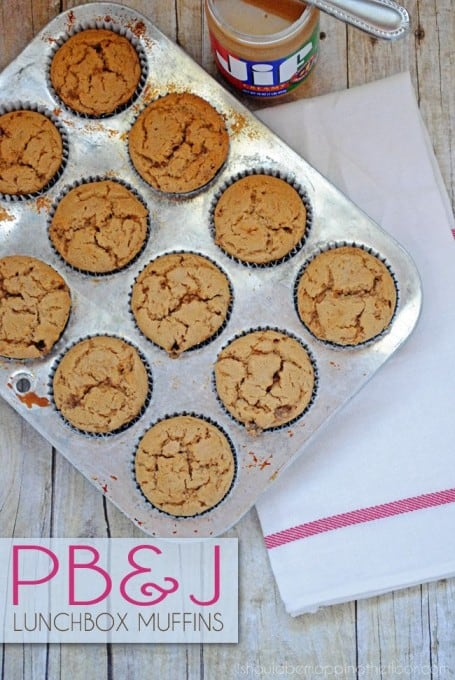 PB&J Lunchbox Muffins