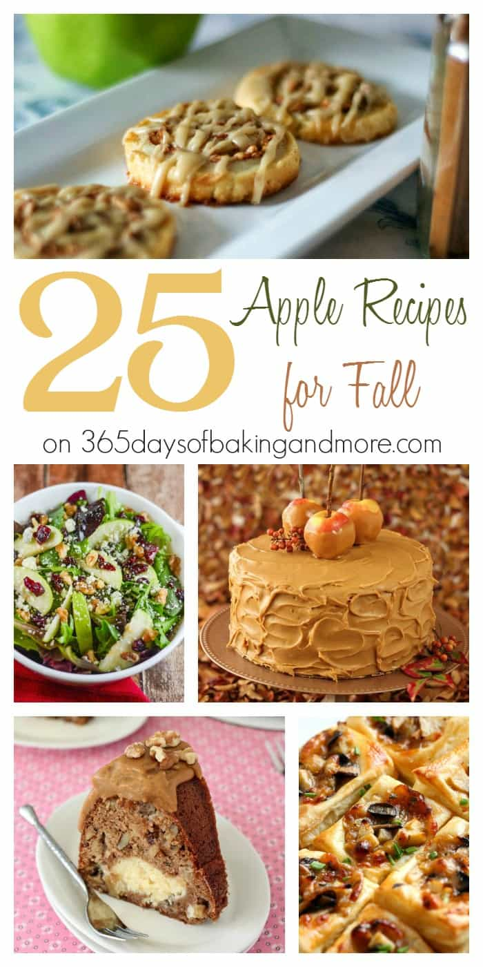 25 Apple Recipes for Fall from 365 Days of Baking and More