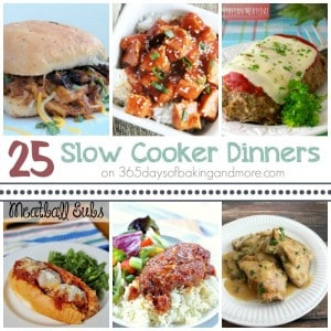 25 Slow Cooker Dinners