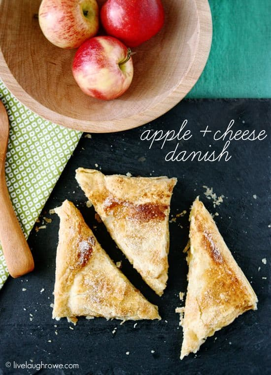 Apple and Cheese Danish with livelaughrowe.com