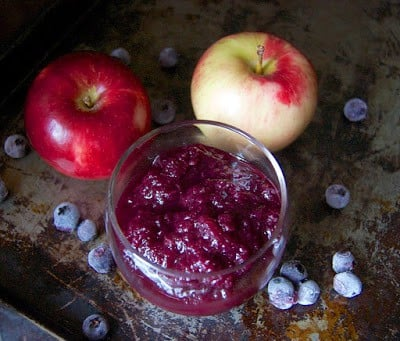 Cinnamon Blueberry Applesauce from 365 Days of Baking & More