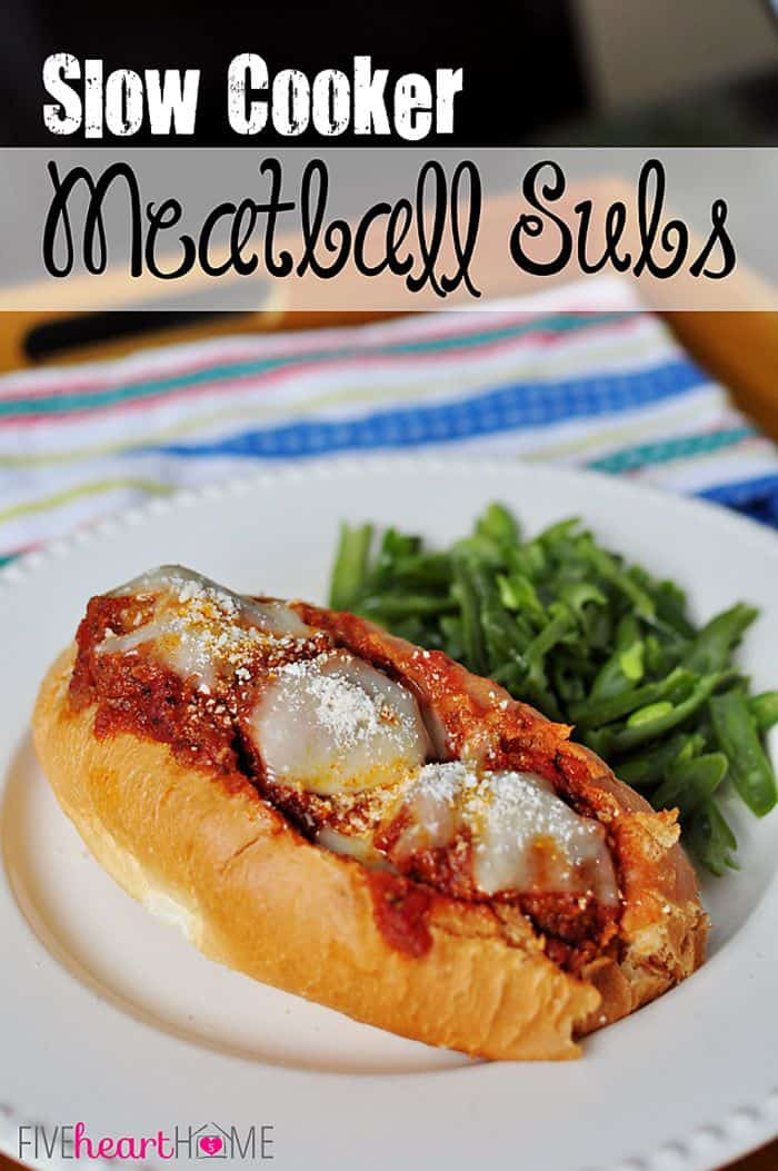 Slow Cooker Meatball Sub Sandwiches