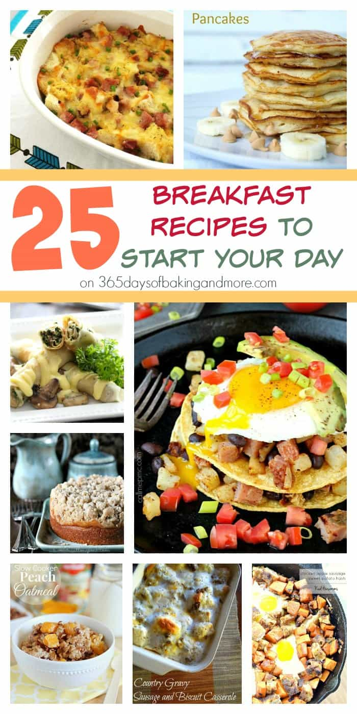 25 Breakfast Recipes to Start Your Day on 365 Days of Baking & More