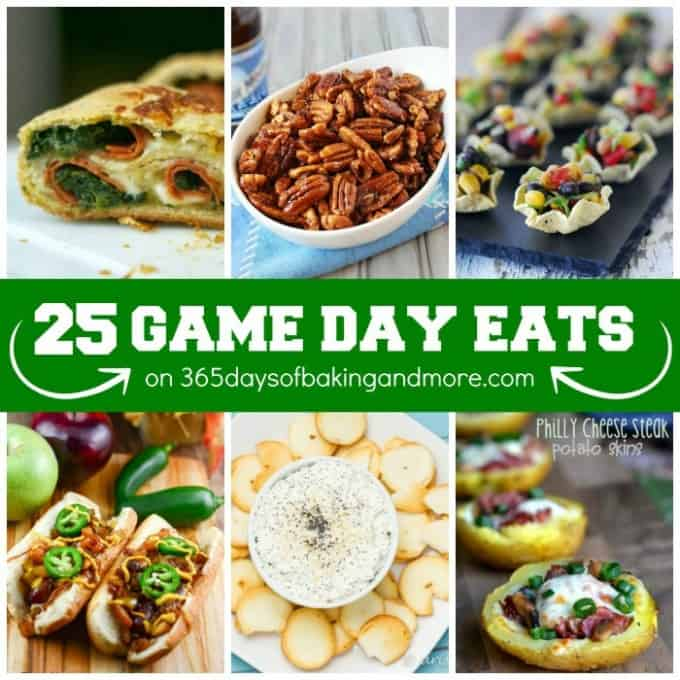 25 Game Day Eats on 365 Days of Baking & More SQUARE