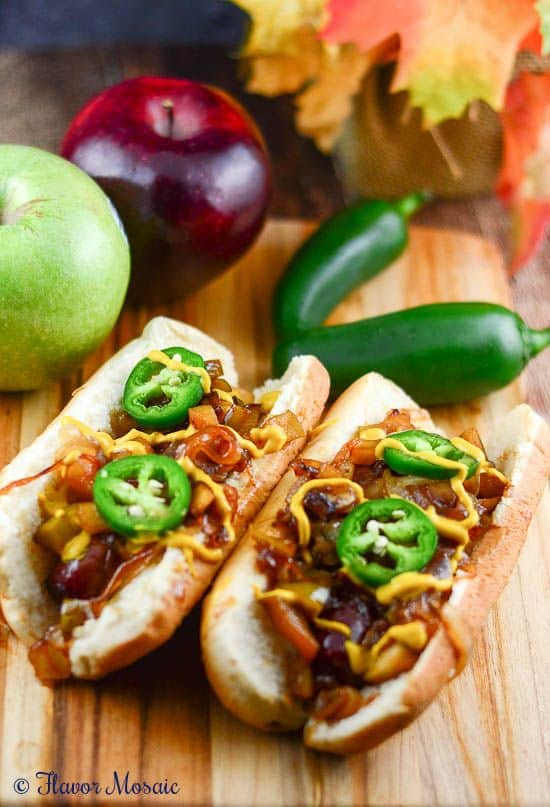 Braised Brats with Apples and Onions