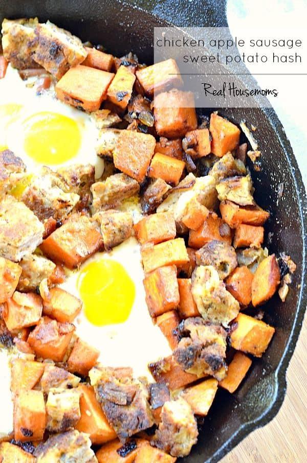 Chicken Apple Sausage and Sweet Potato Hash