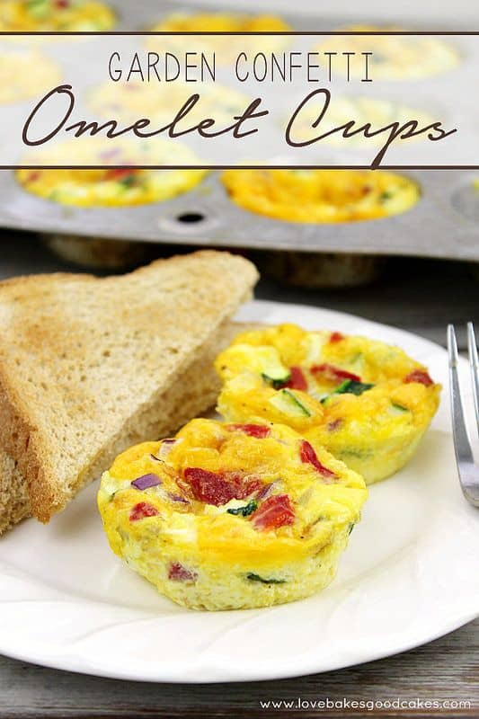 Garden Confetti Omelet Cups