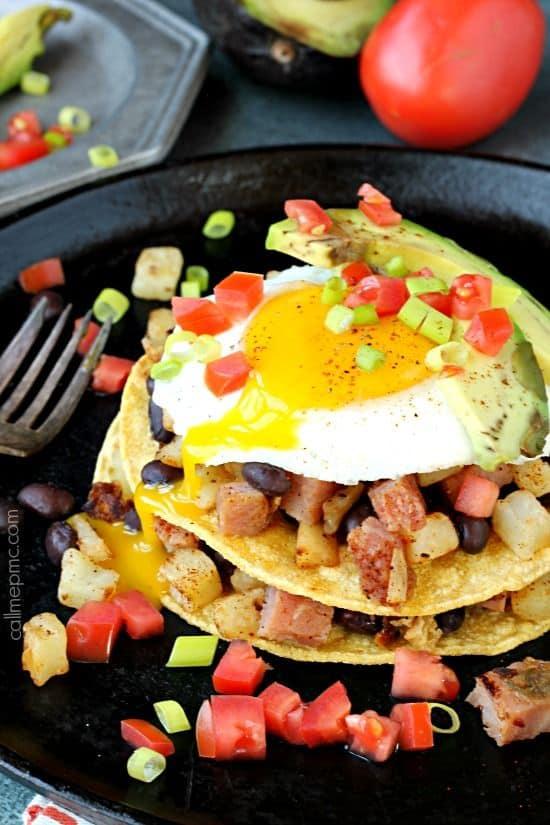 Huevos Rancheros Breakfast Stack