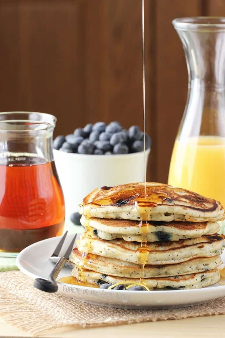 Lemon Blueberry Poppy Seed Pancakes