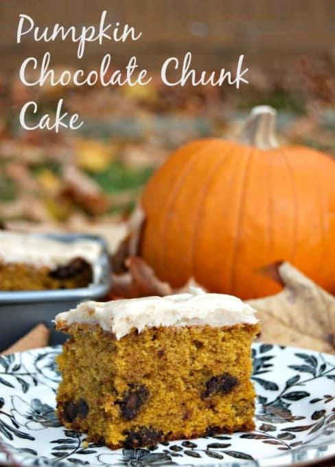 Pumpkin Chocolate Chunk Cake - chocolate and the great taste of Fall!