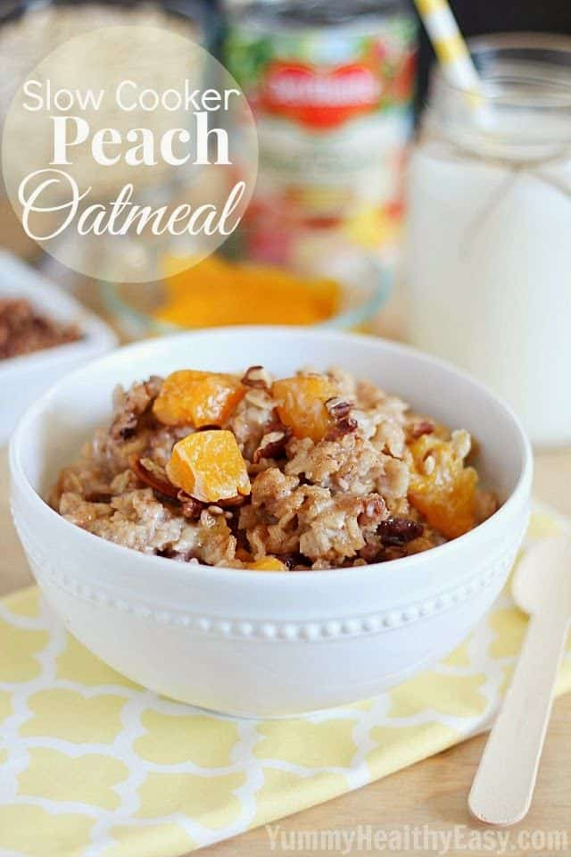 Slow Cooker Peach Oatmeal