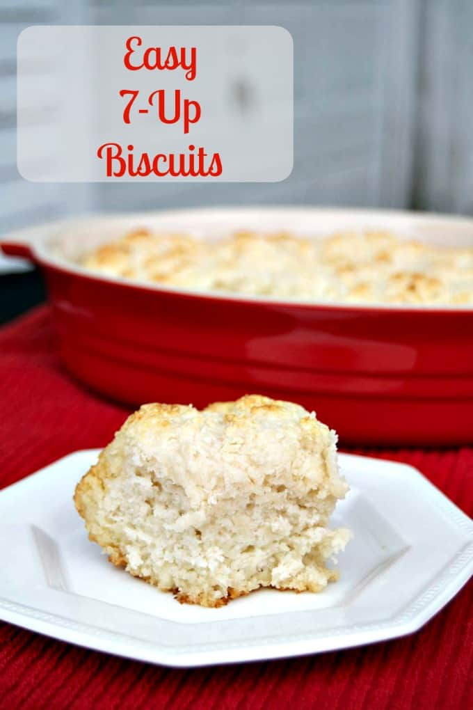 Easy 7-Up Biscuits - a simple biscuit to make with just 4 ingredients and ready for the dinner table in no time!