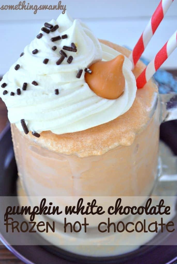 Pumpkin White Chocolate Frozen Hot Chocolate
