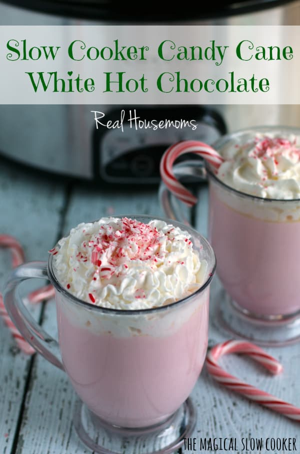 Slow Cooker Candy Can White Hot Chocolate