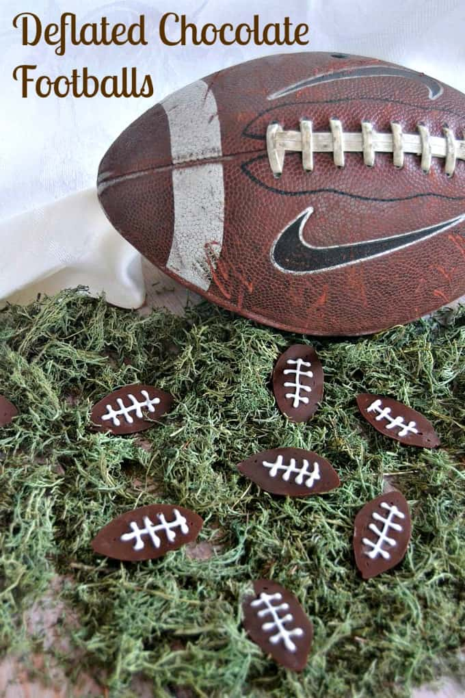 Deflated Footballs - cute chocolate footballs  made with chocolate and fun to serve for Game Day!
